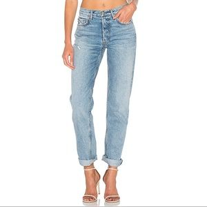 GRLFRND Helena high rise straight jeans